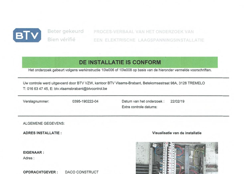 Elektriciteit Afgekeurd Arei Conform Technisch Correcte Installaties En Herstellingen Schriek En Omstreken